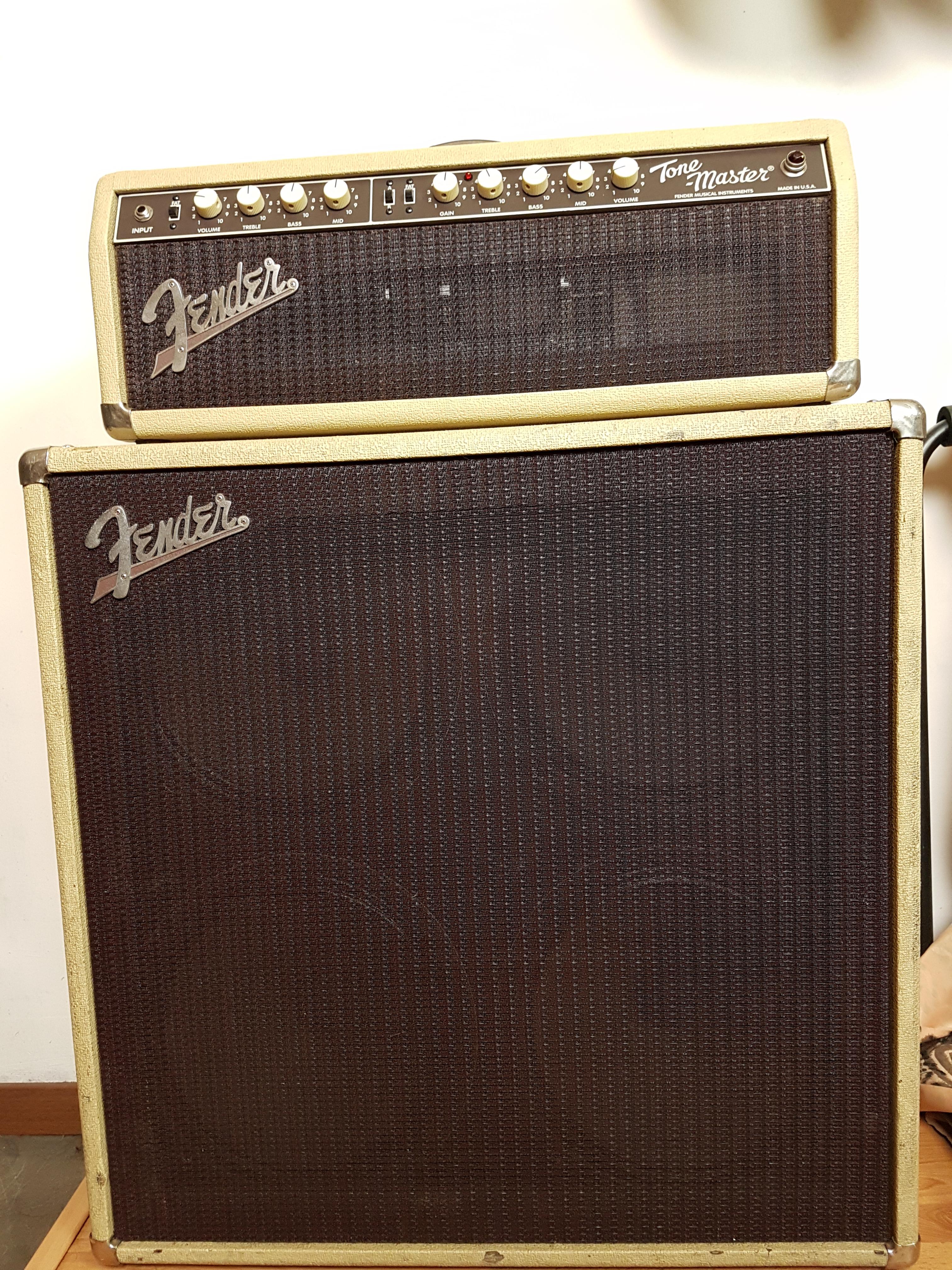 90 S Fender Tone Master Custom Shop 100w Head Cab Rare